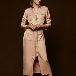 Zara Woman Studio long Shirt Dress - Nude
